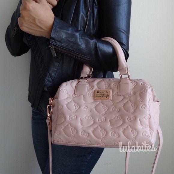 1 hr Sale Hello Kitty Pink Handbag Low Availability! New Hello Kitty x Loungefly  bag. Sanrio licensed. Beautiful dusty pink handbag. aa3433a529182