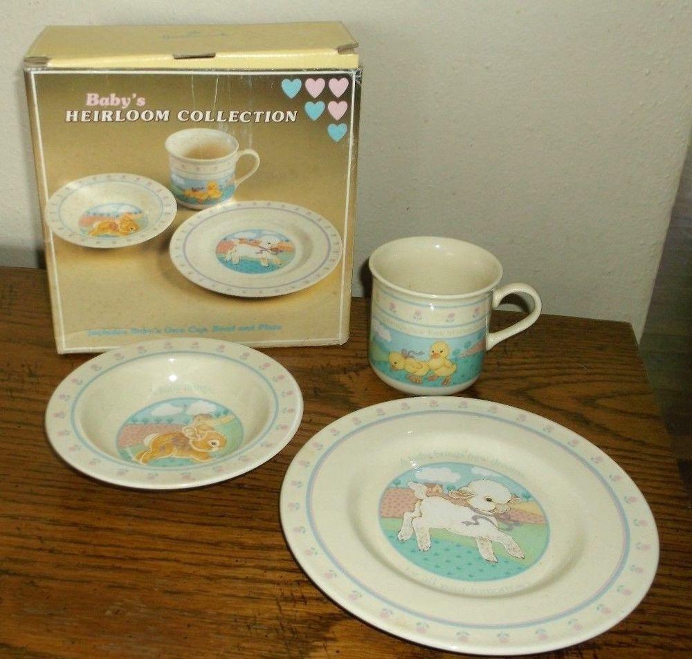 Vintage Baby/Child Dinner Set Hallmark Plate/Bowl/Cup 1984 w/Box ...
