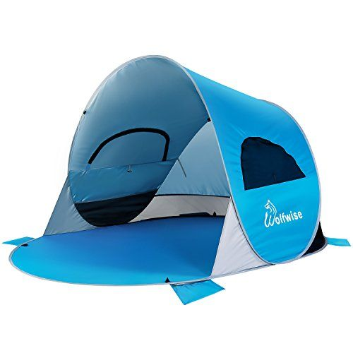 WolfWise UPF 50+ Easy Pop Up Beach Tent Instant Sun Shelter Tent Sunshade Baby Canopy - The wolfwise beach tent pops up and folds down in seconds ...  sc 1 st  Pinterest & WolfWise UPF 50+ Easy Pop Up Beach Tent Instant Sun Shelter Tent ...