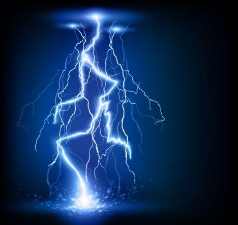 Lightning Design Realistic Vector
