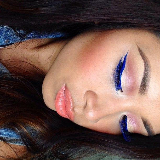 """@Ilene Devora's photo: """"Blue liner. Blue mascara. #motd"""""""