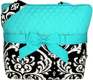 Damask Quilted Diaper Bag with Optional by littleblessings99, $35.00