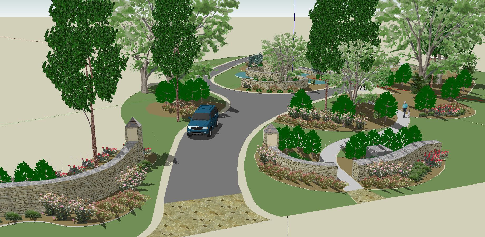 Free google sketchup 3d landscape design software for 3d garden design