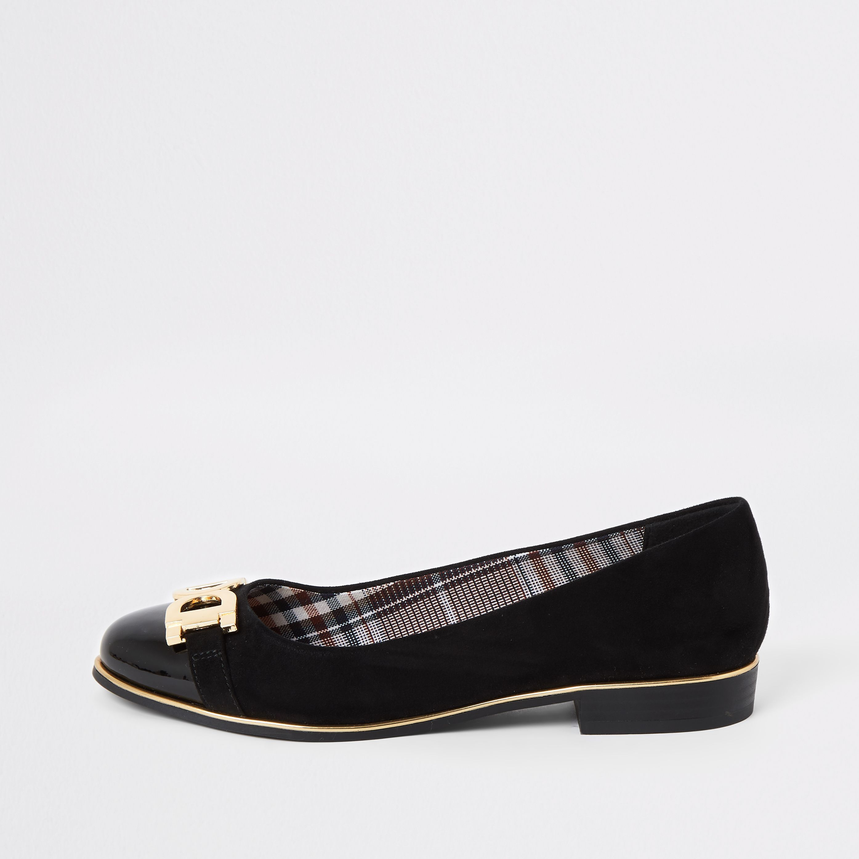 River Island Womens Black snaffle front