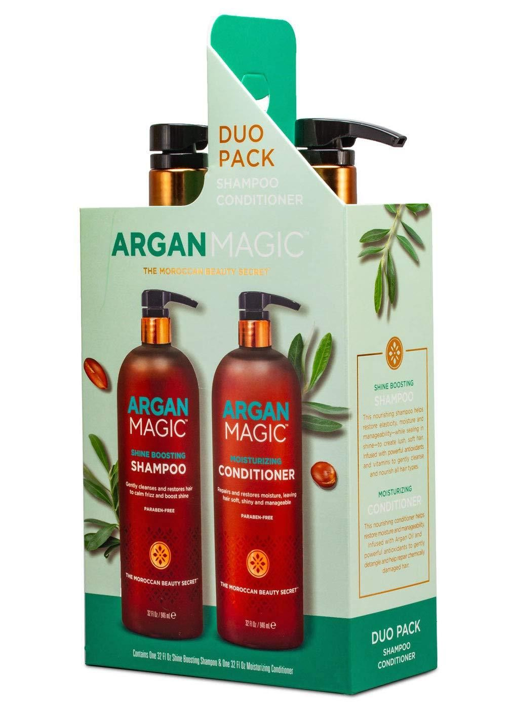 Argan magic shampoo and conditioner duo for dry and