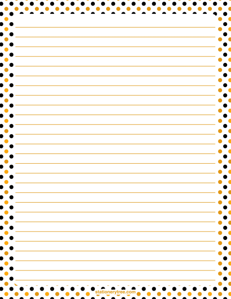 halloween polka dot stationery and writing paper stationary printable - Printable Halloween Writing Paper