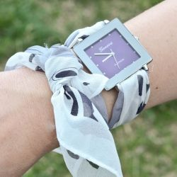 See How To Make This Scarf Watch Band On The Fashion Spot S