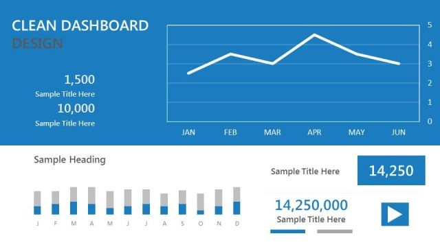 Blue Dashboard Template For Powerpoint Pinterest Dashboard