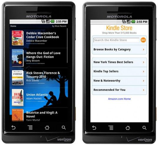 Amazon Kindle App released into the Android Market
