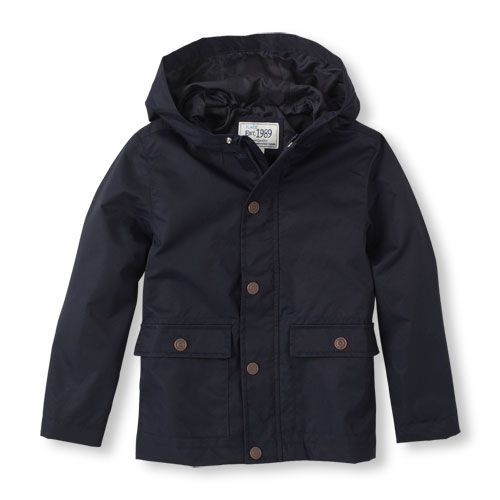 The Childrens Place - Keep him dry in this perfect uniform jacket!