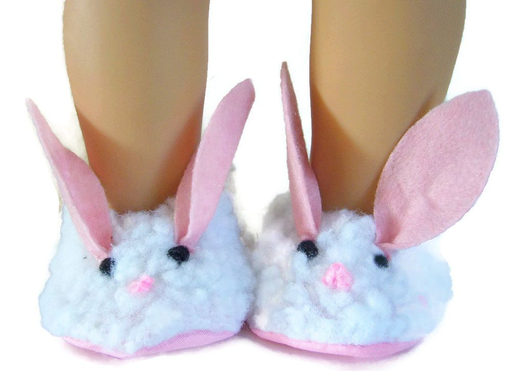 8b94ec92da12de Bunny Fuzzy Slippers fits 18