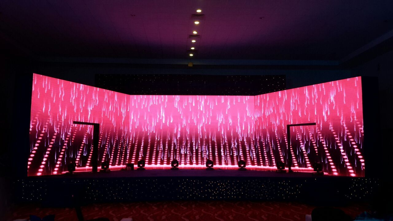 Curve Led Wall For Your Wedding Sangeet Will Not Only Be A