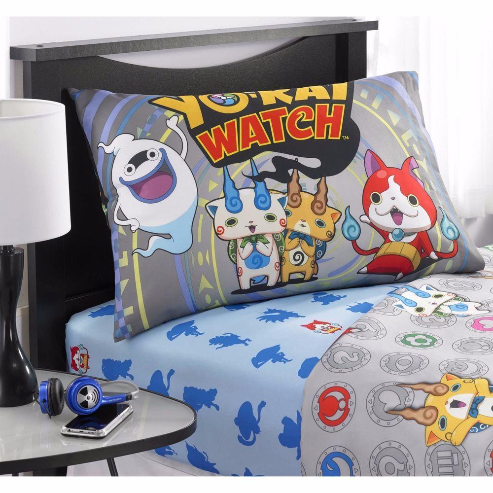 yo kai watch watch 3 piece microfiber twin sheet set kids bedding home