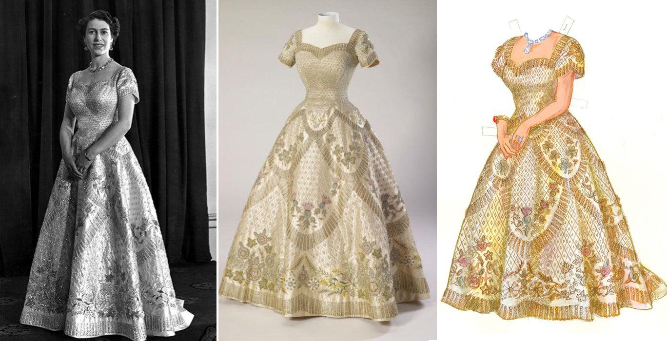Coronation dress by Hartnell   Royal Family Fashion ...