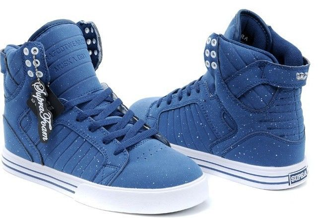 Cheap Men's Supra Skytop Footwear Muska High Tops Blue Shoes White Spot  Dancing shoes, skateboard shoes For Sale Free Shipng