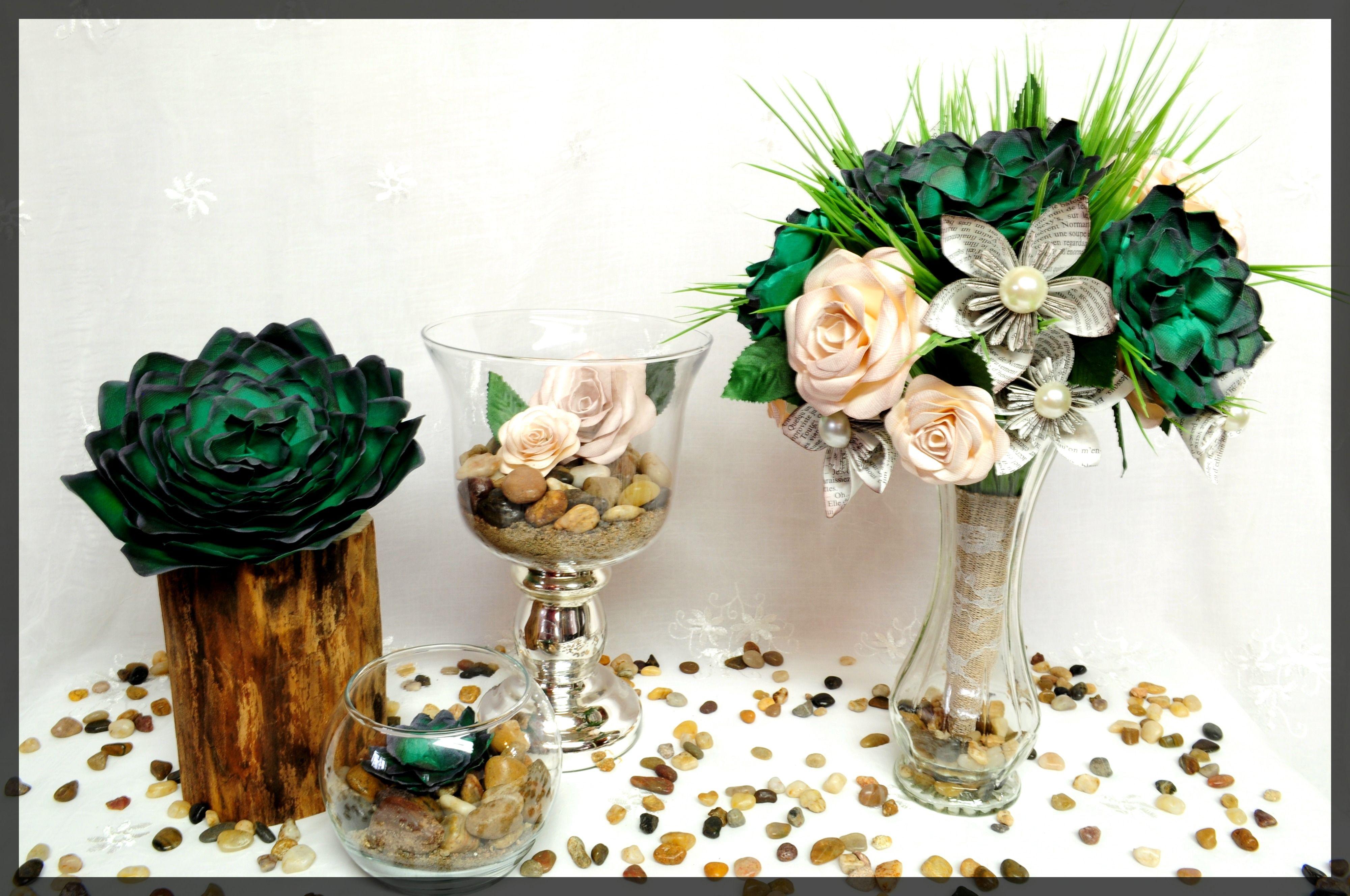 Mariage Boheme Succulente Plante Grasse Cactus Mariage Rose