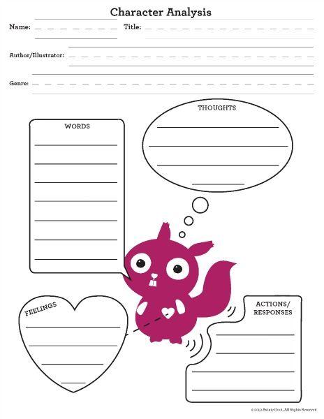 Creative Ways To Teach Character Analysis  Graphic Organizer