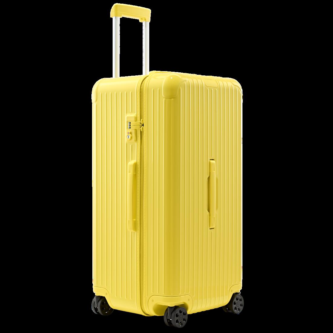 Original Trunk Plus Aluminum Suitcase Saffron Yellow Rimowa Rimowa Hard Shell Luggage Lightweight Suitcase