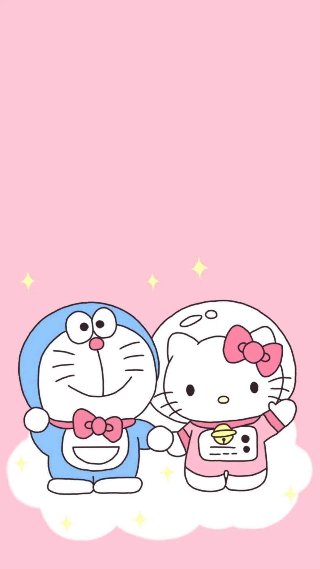 76 Wallpaper Doraemon Latar Pink HD Terlihat Keren Untuk