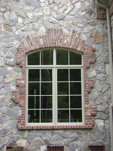 Stone And Brick Around Window Ideas For Jimmy Bricking