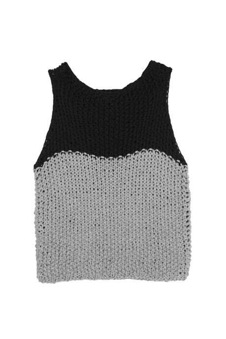 TWO TONE KNIT TANK - EXCLUSIVE