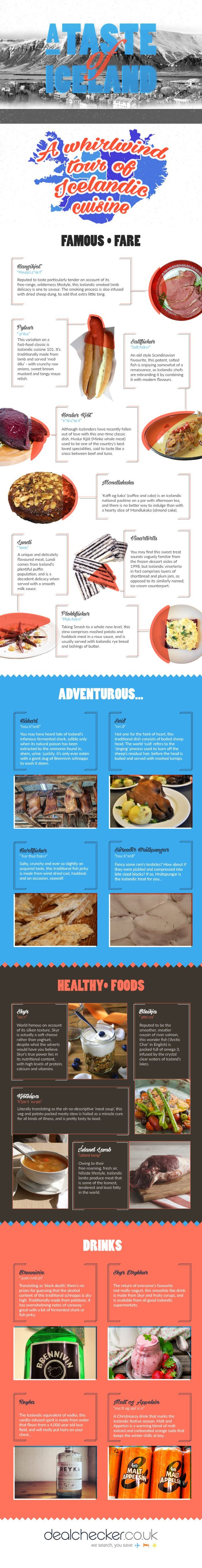 The Best Icelandic Foods - A Taste of Iceland #Infographic
