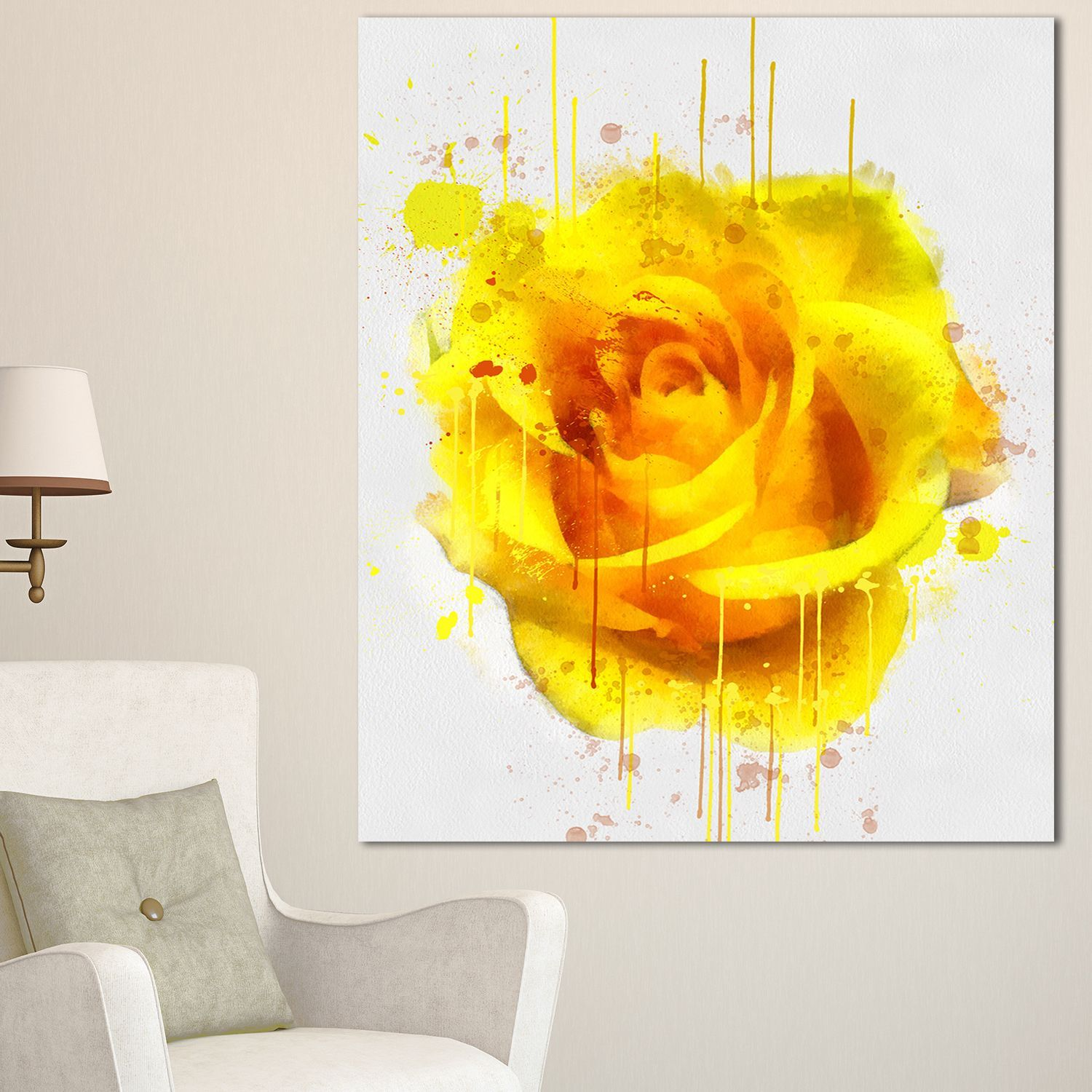 Overstock Com Online Shopping Bedding Furniture Electronics Jewelry Clothing More Watercolor Flowers Flower Canvas Watercolor Rose