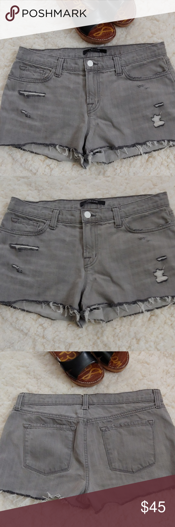 520ad94af4 J Brand Hilo Cut Off Shorts NWOT Cool and trendy these gray cutoffs are a  must