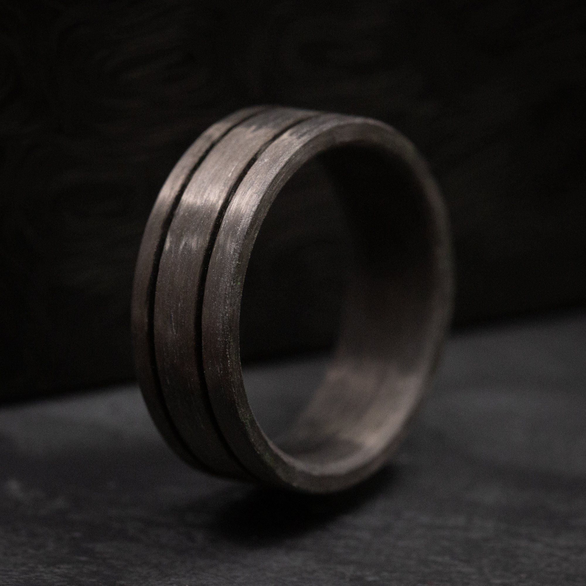 Solid Carbon Fiber From The Vault Pre Made Ring Size 10 25 Size 10 Rings Ring Size Rings