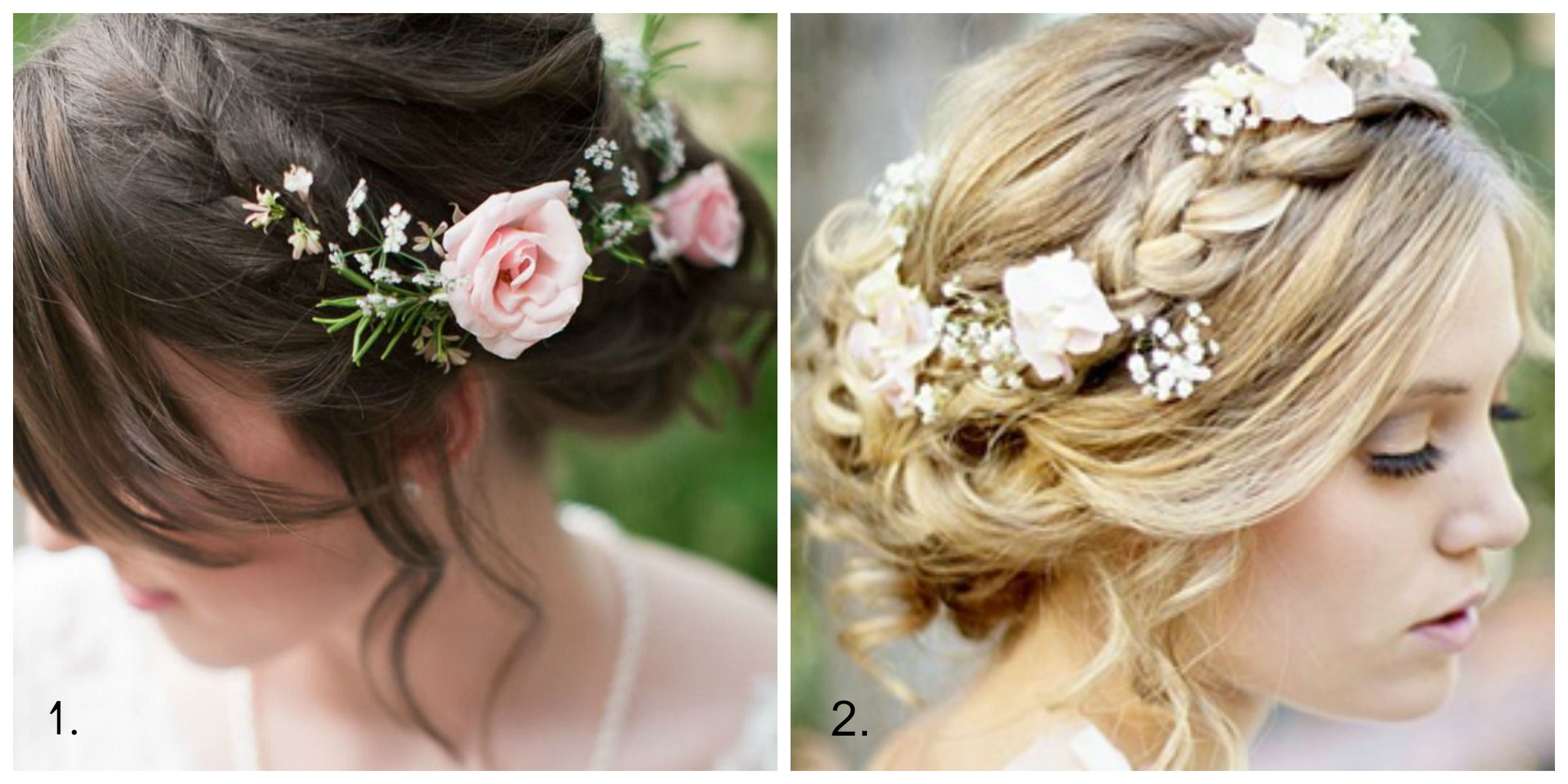 Flower Girl Hairstyles For Wedding: Wedding Hairstyles With Braids And Flowers