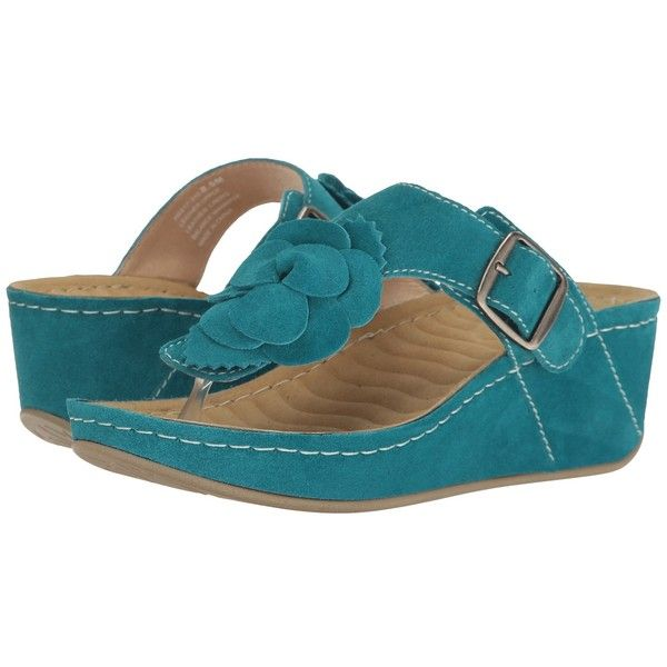 David Tate Spring (Teal Suede) Women's Clog/Mule Shoes ($99) ❤ liked on Polyvore featuring shoes, sandals, clog mules, platform wedge sandals, clog sandals, mule sandals and wedge mule sandals