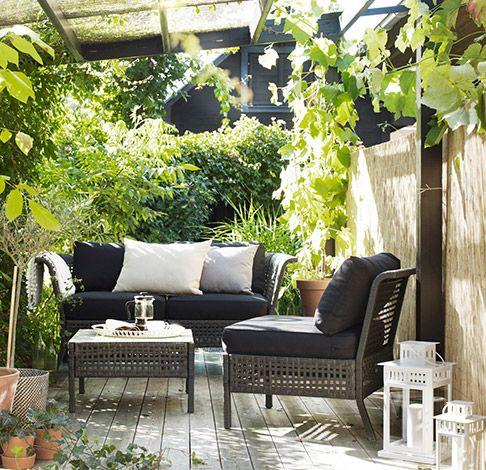 Kungsholmen Piha Ideoita Lounge Mobel Balkon Ideen Und Terrasse