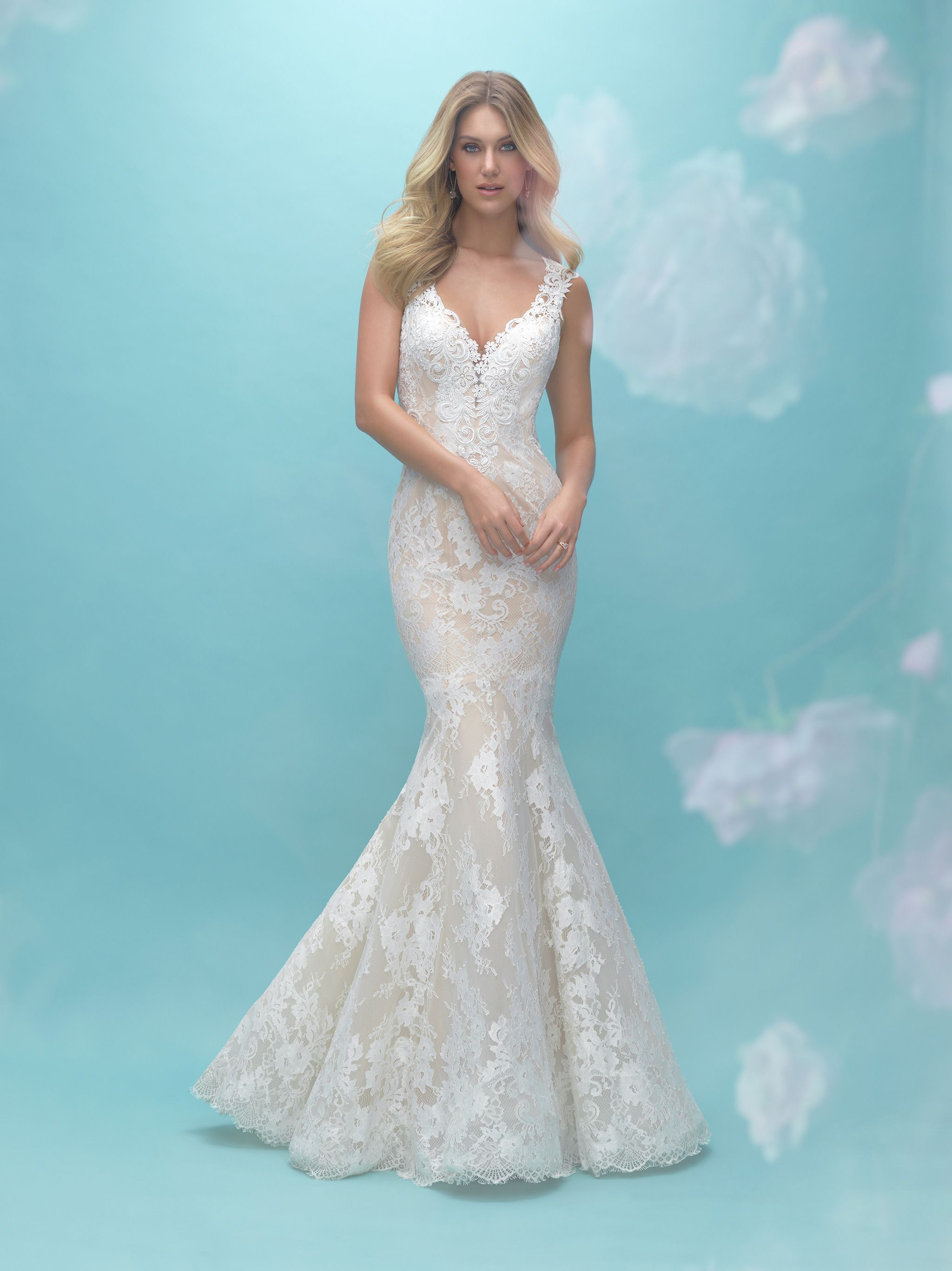 Allure Bridals #9464 Price: $1000-$1499 Silhouette: Neckline: V-Neck ...