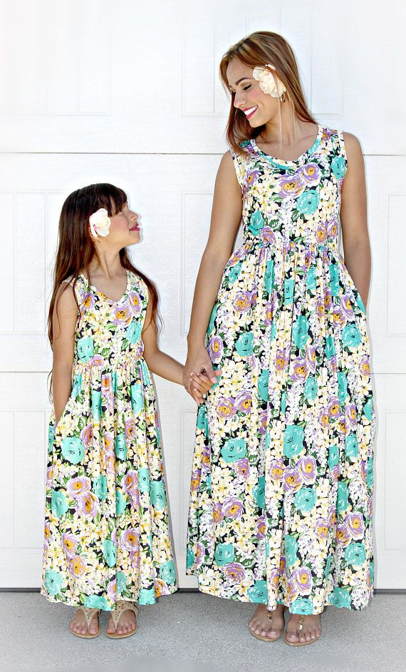 efa4b75e99372 Floral maxi,mommy and me outfits, mommy and me,matching outfits ...