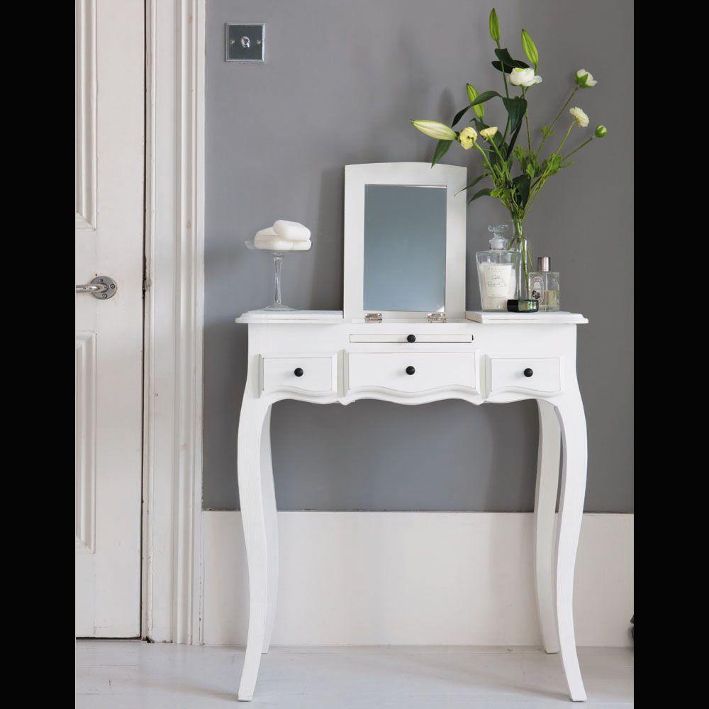 coiffeuse 3 tiroirs blanche pinterest mathilde maison du monde et coiffeur. Black Bedroom Furniture Sets. Home Design Ideas