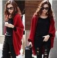 Super Hot!!! Free Shipping Warm Women Smocked Sweater Cardigan Wraps Tops Coat OutCoat Fitted Knit Jackets (Thin Type)