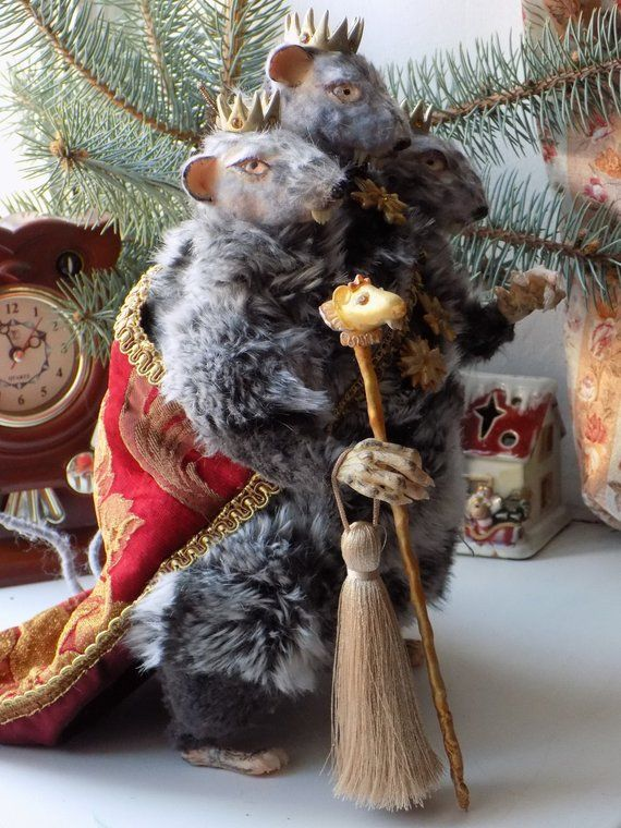 Mouse King Nutcracker Personage Rat King Three Head Mouse Horror Doll Poseable Doll Monstre Mouse Oo Mouse King Mouse King Nutcracker Free To Use Images