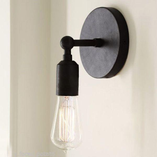 Vintage Brief Retro Style Wall Light Sconce Edison Bulb Lamp 220v