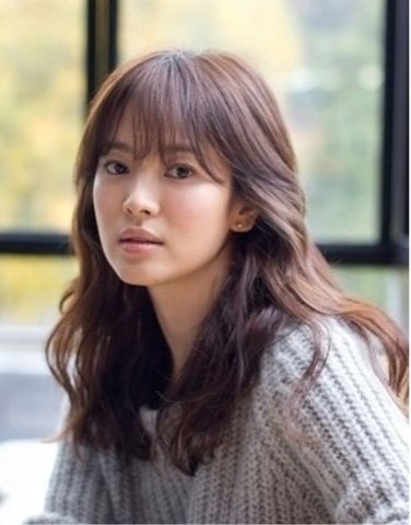 See Through Bang Style With Gram Perm Hair Cut Style
