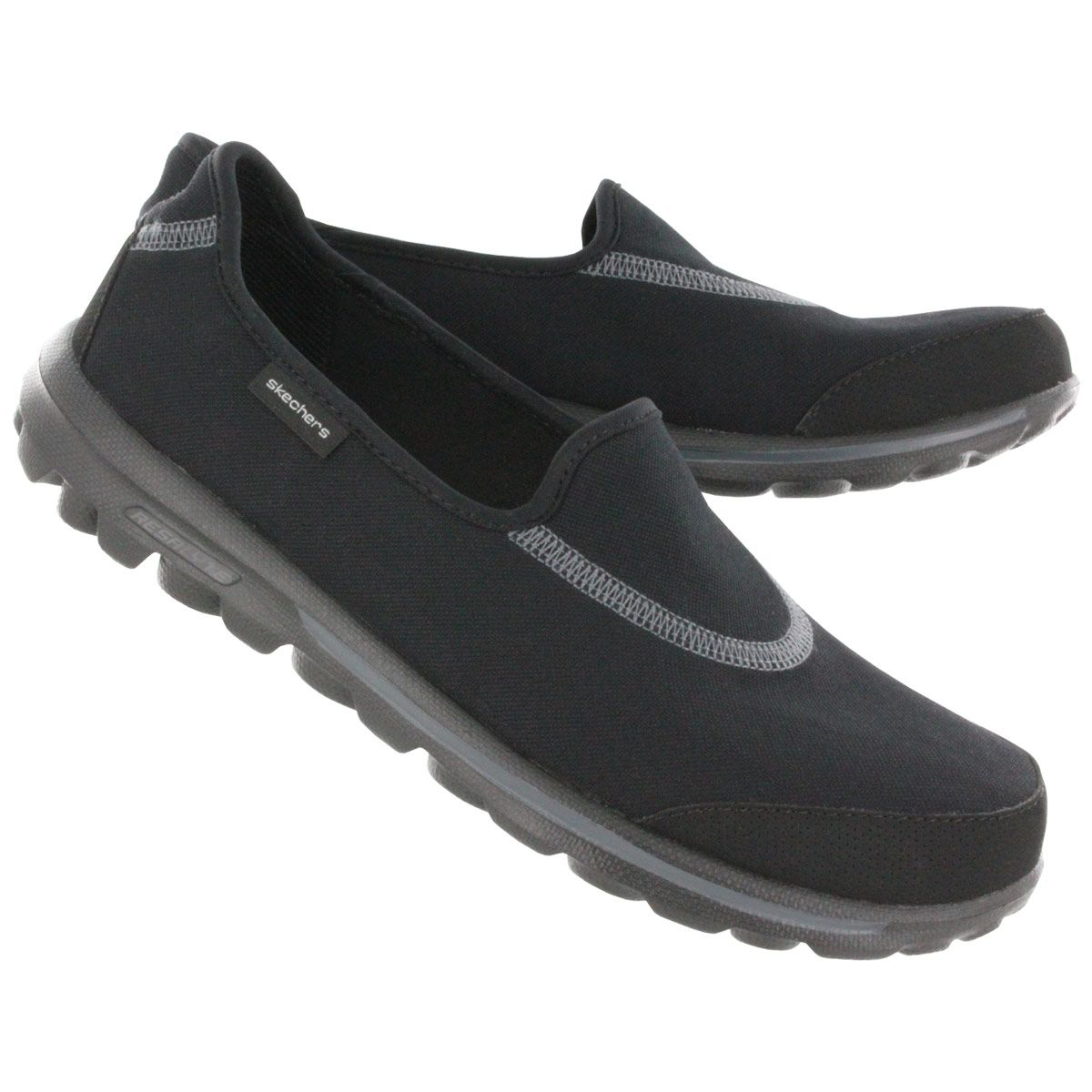 Skechers Women's GOwalk black lightweight slip on sneakers