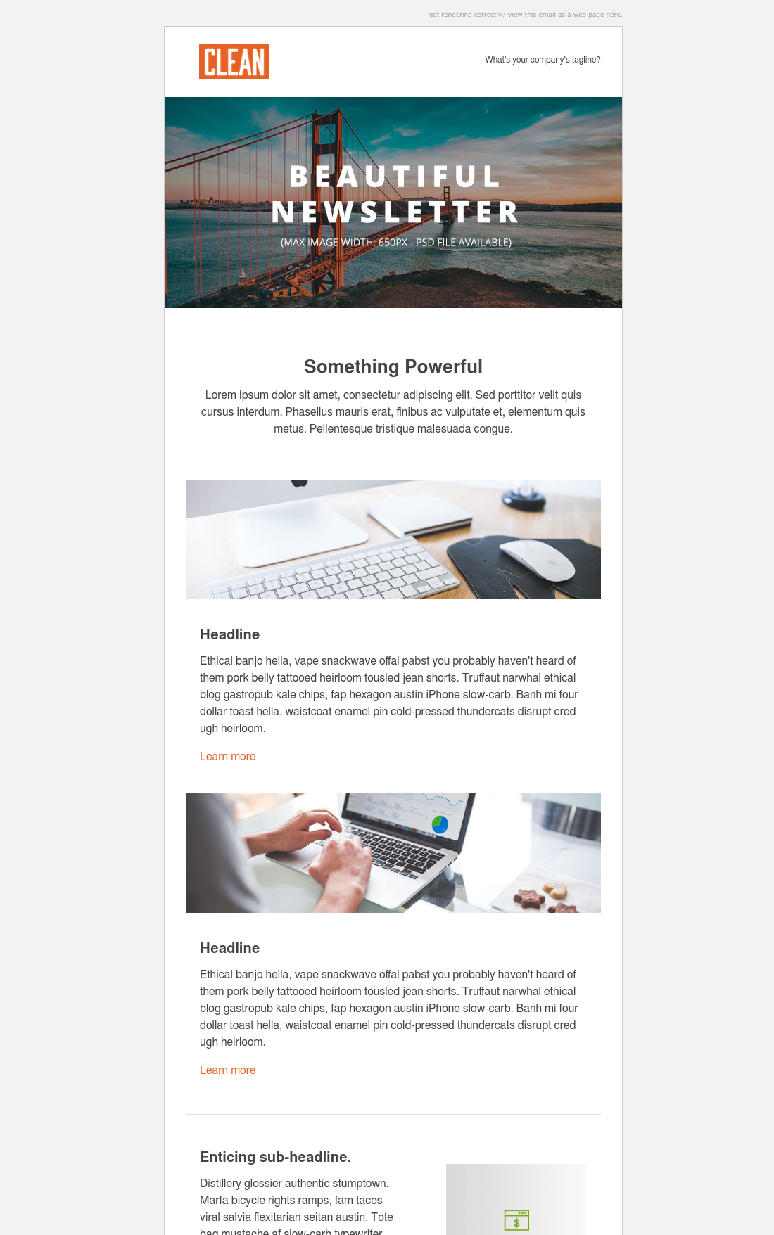 Clean 3 Newsletter Email 3 Hubspot Ahla Email Templates