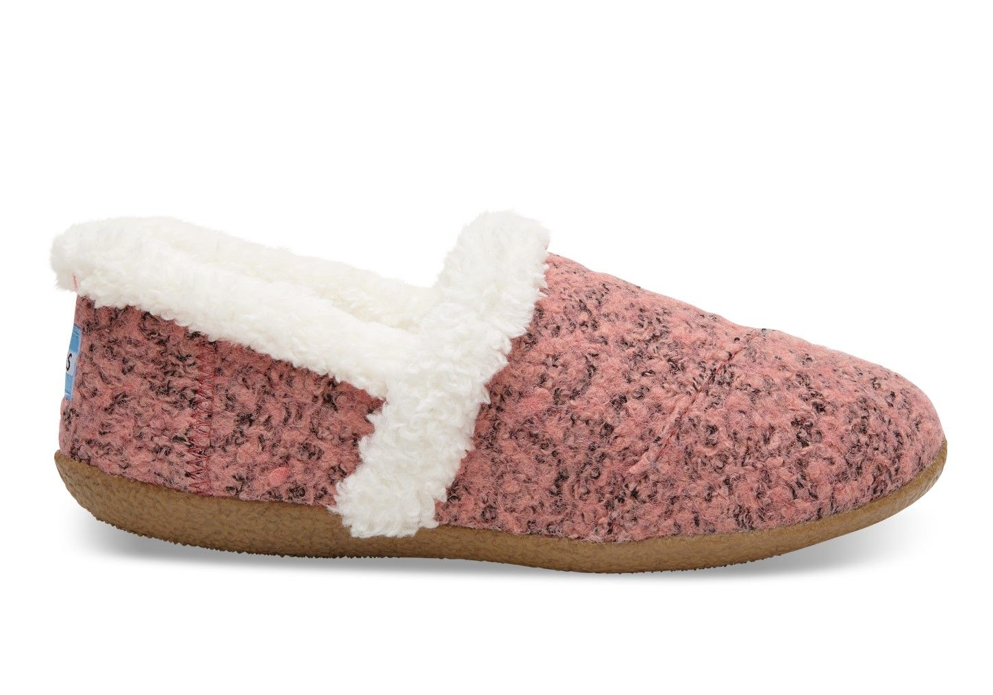 6749131a51a1 TOMS TOMS Faded Rose Woolen Woman House Slippers.  toms  shoes ...