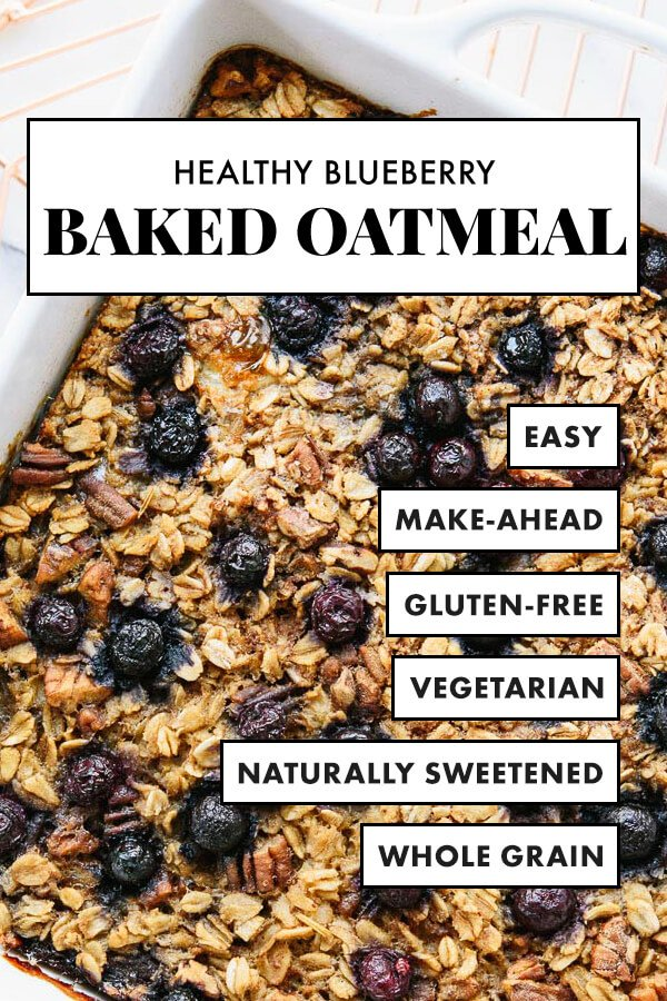 Baked Oatmeal Recipe With Blueberries Cookie And Kate Recipe Blueberry Recipes Healthy Blueberry Baked Oatmeal Recipes