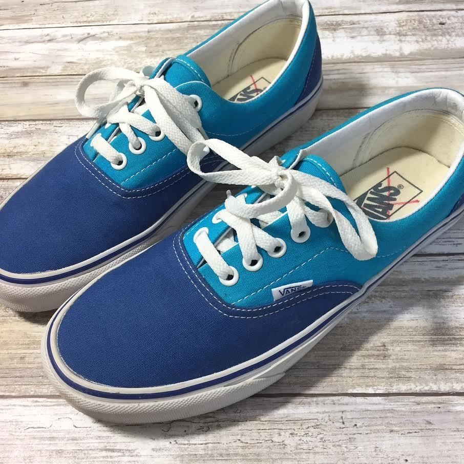 Vans Mens Blue Canvas Sneakers 8.5  VANS  Loaferssneakers  7602833a5
