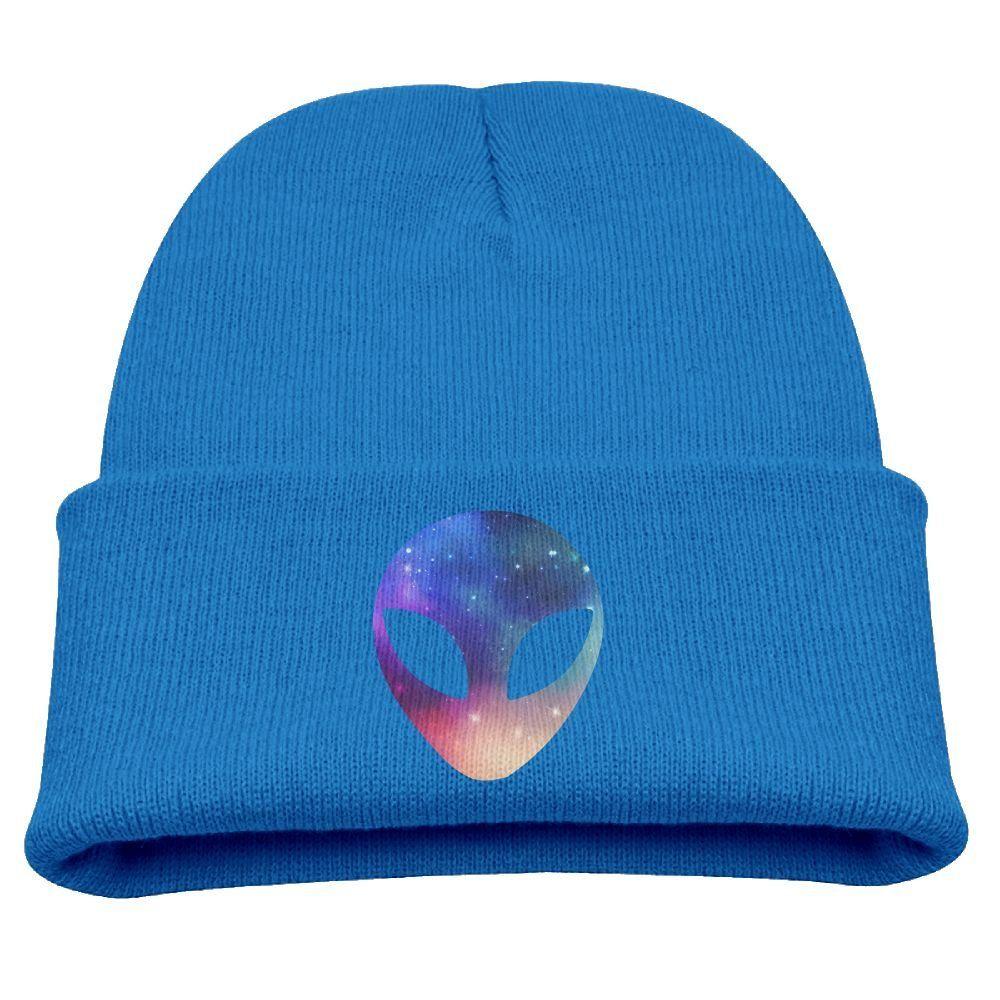 4016efedbb1 Space Alien Head Colorful Unisex Kids Warm Winter Hat Knit Beanie Skull Cap  Cuff Beanie Hat