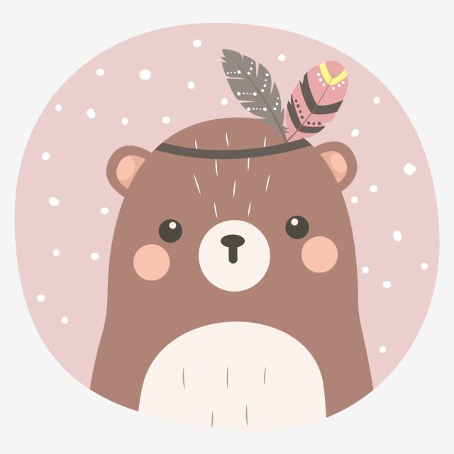 Adorable Tribal Bear Illustration, Adorable, Animal, Baby Shower PNG and Vector with Transparent Background for Free Download