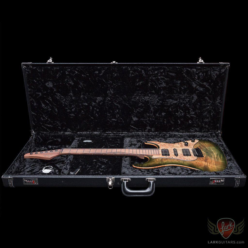 xSOLD - Suhr Custom Standard HSH 'Waterfall' Burl Maple - Faded Trans Green Burst (748) - Lark Guitars