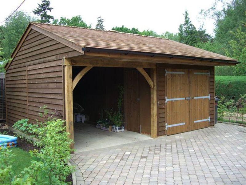 Opening framing Timber garage, Wooden garage, Wooden
