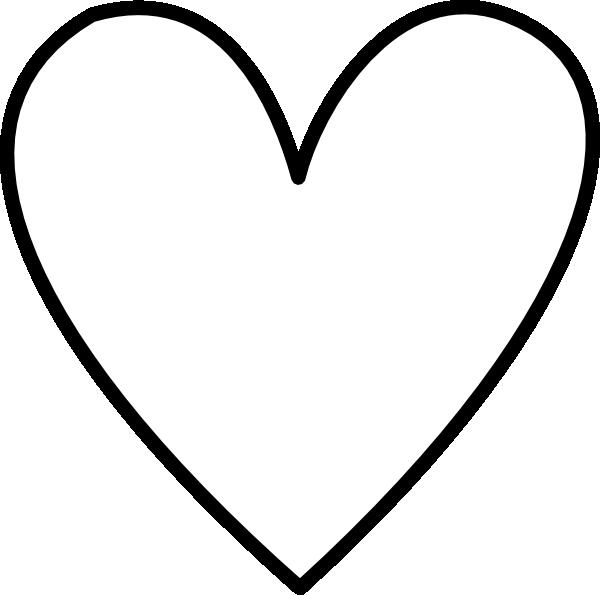 Hearttemplate White Heart Outline Clip Art Heart Outline Tattoo Small Heart Tattoos Black Outline Heart