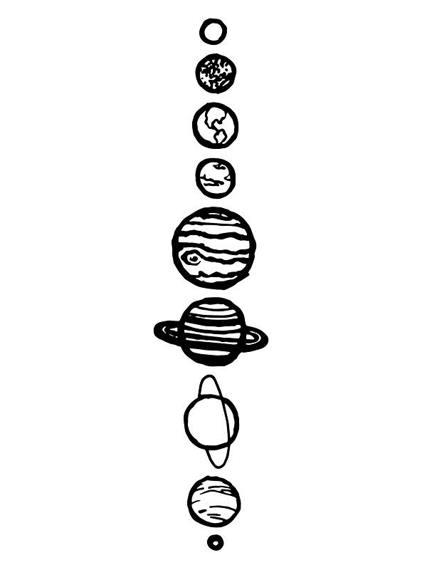 White Planets Sticker With Images Space Drawings Black And